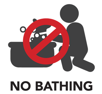 No bathing icon