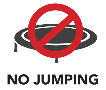 No jumping icon